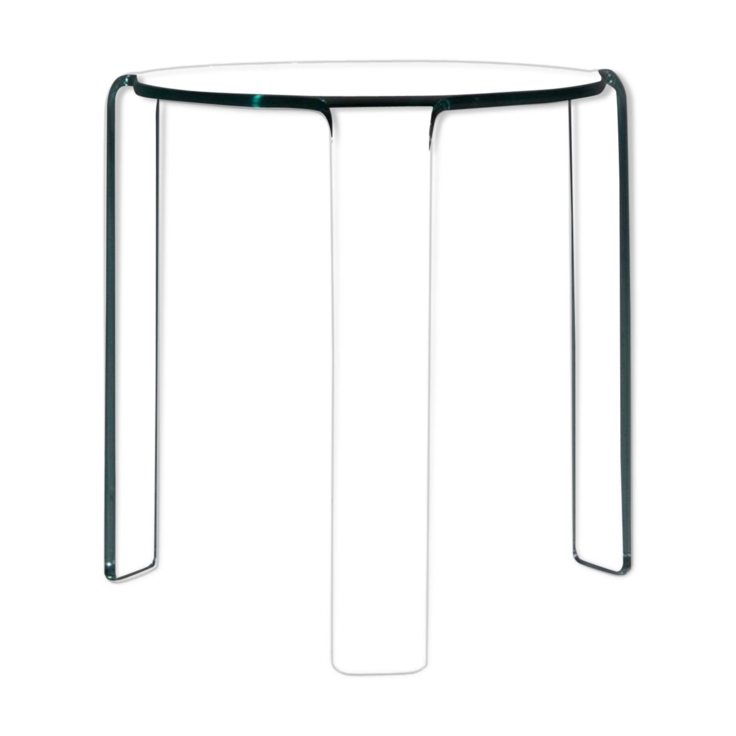 Table d'appoint Fiam Italia conçue par Alvar Aalto des années 80