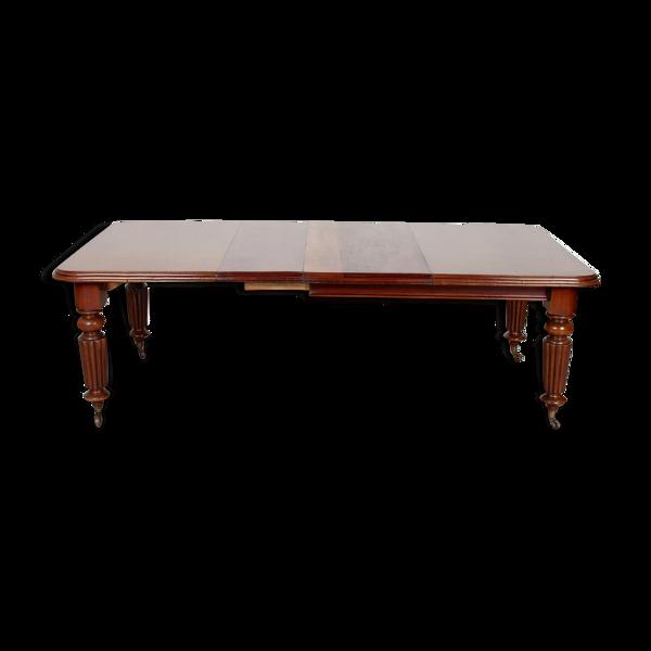 Table à manger en acajou du XIXe siècle
