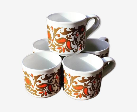 Six tasses à café anglaises