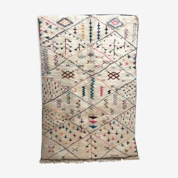 Tapis berbère marocain beni Ouarain à motifs colorés 2,57x1,7m
