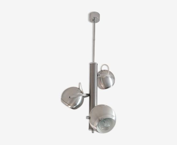 Suspension space age eyeballs aluminium brossé chrome - 1970's-