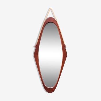 Vintage teak mirror, Italy 1950's