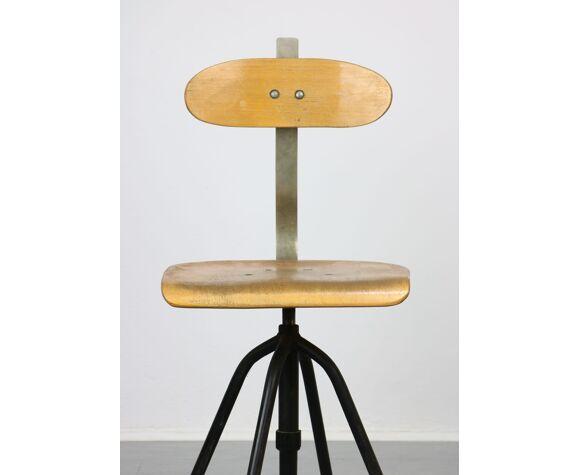 Chaise pivotante vintage industial des années 1950