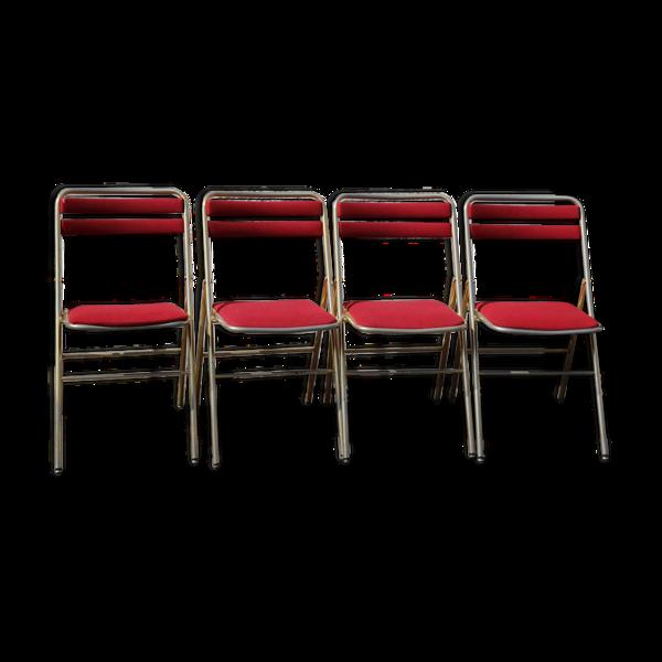 Ensemble 4 chaises opera pliantes