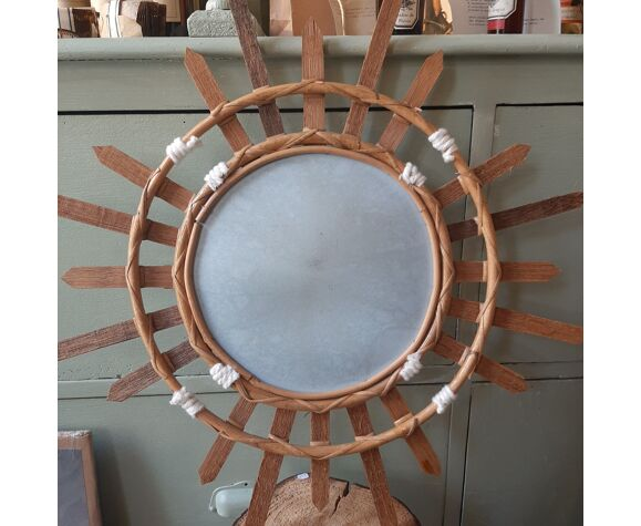 Bamboo sun mirror 56cm