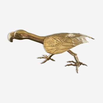 Oiseau en laiton doré