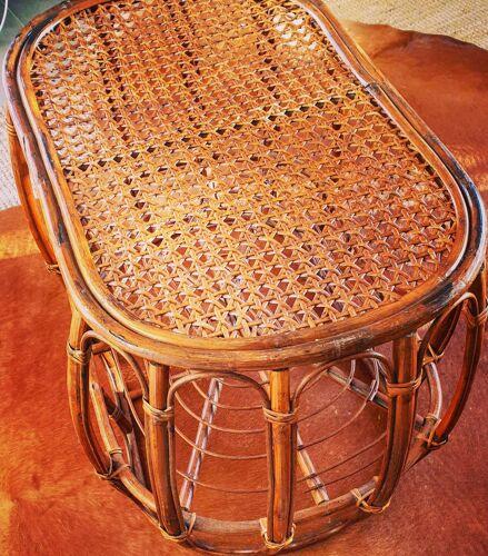 Vintage rattan coffee table