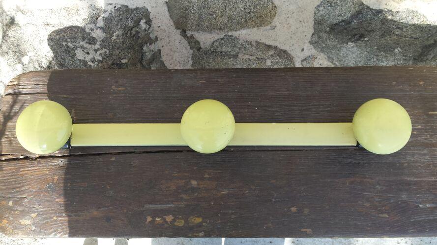 Patère jaune 3 boules