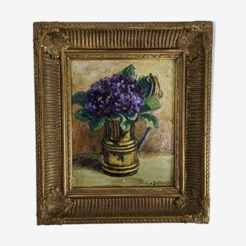 Nature morte aux violettes