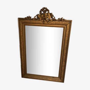 Vintage old mirror 119x76cm