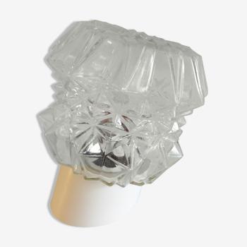 Applique en verre structuré par RZB Leuchten années 60/70