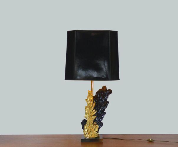 Pied de lampe de table signée Philippe Cheverny