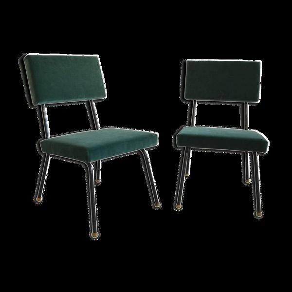 Ensemble de deux fauteuils rembourrés vers 1960