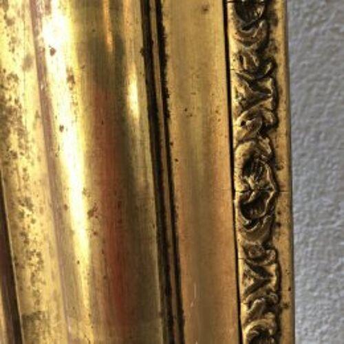 Cadre à miroir doré