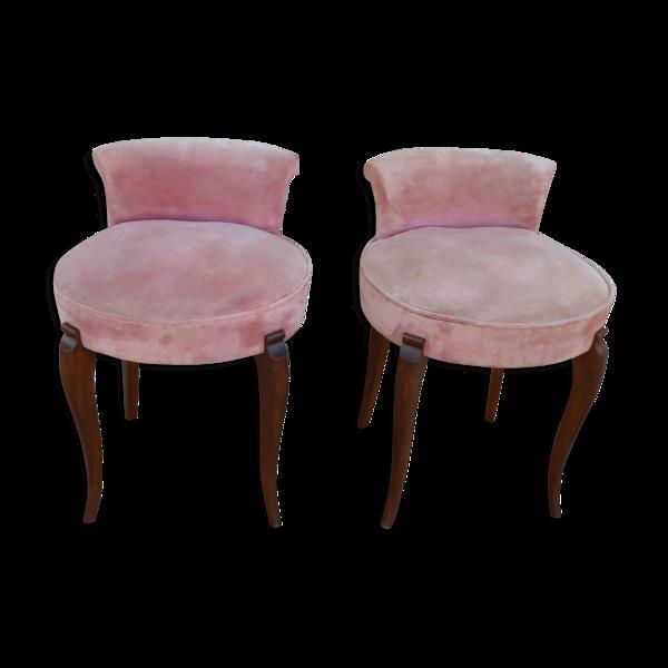 Paire de fauteuils de salon année 40