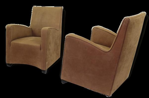 Paire de fauteuils Wittmann