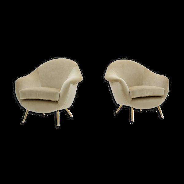 Ensemble de 2 fauteuils Guglielmo Veronesi années 1950, ensemble de 2