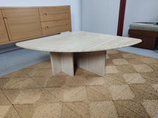 Table basse travertin années 80