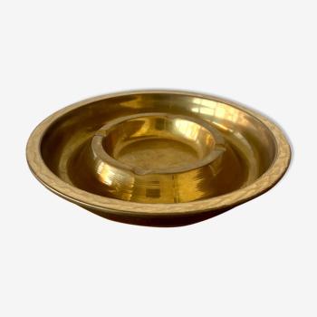 Cendrier en laiton doré