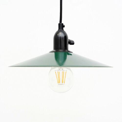 Lampe suspendue verte danoise années 50