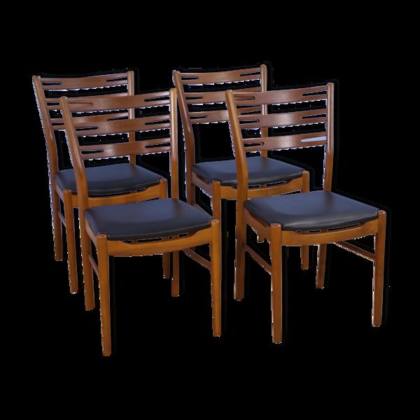 Ensemble de 4 chaises à manger danoises modèle 210 en teck par Farstrup, années 1960