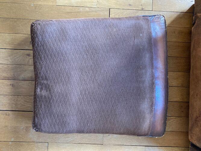 Fauteuil club en cuir