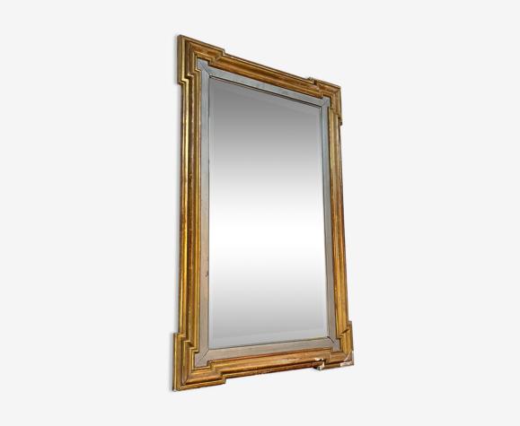 Miroir en bois doré début XXème