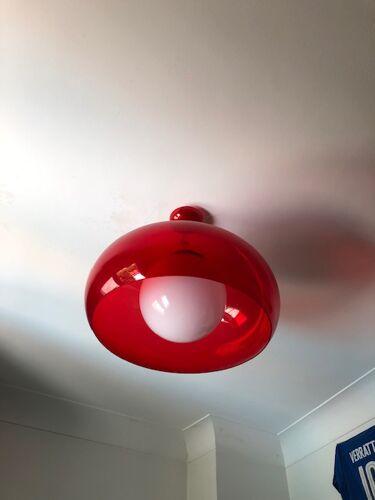 Suspension balun, rouge transparent