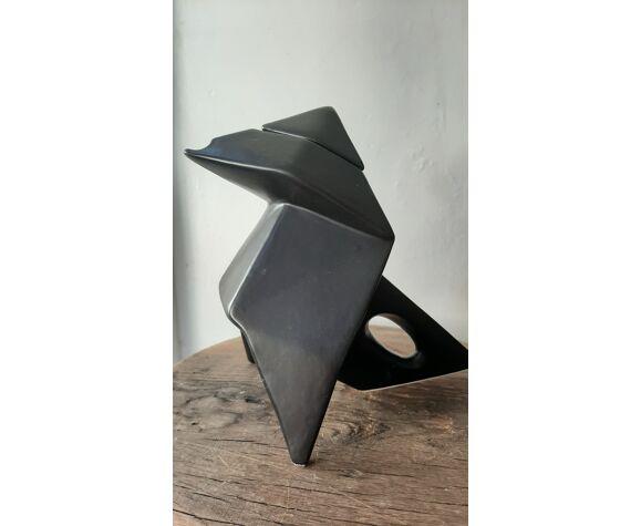 Pichet origami en céramique