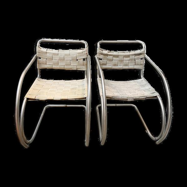 Selency Paire de fauteuils MR20 de Mies van der Rohe