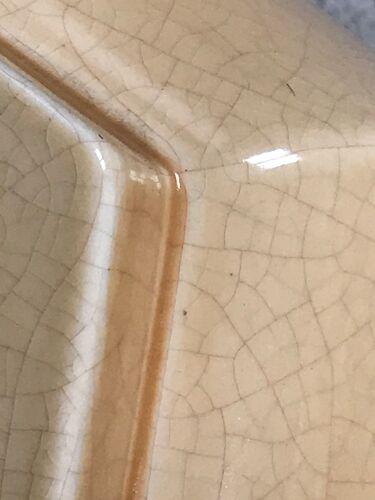 Pied de lampe en céramique craquelée vintage