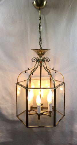 Lanterne 6 lumières à pans coupés