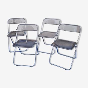 4 chaises vintage pliantes de Giancarlo Piretti pour castelli