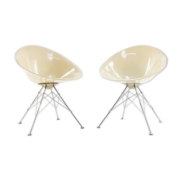 Selency Paire de fauteuils Eros de Philippe Starck édités par Kartell
