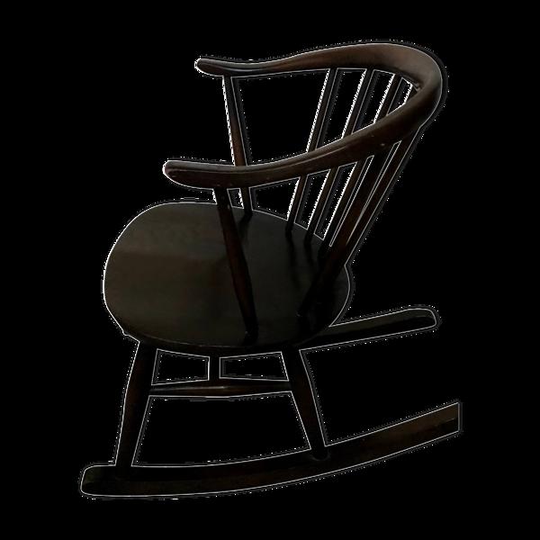 Rocking-chair de Luciano Ercolani pour Ercol vintage années 60