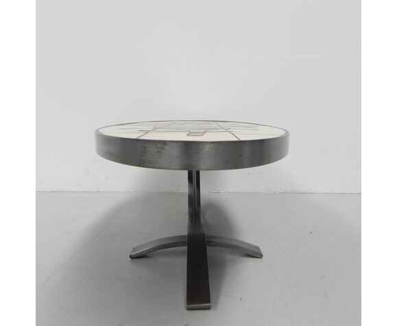Tile table coffee table with 21 tiles, Barrois