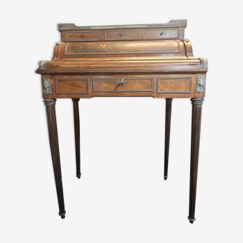 Bureau à cylindre et mécanisme de style Louis XVI