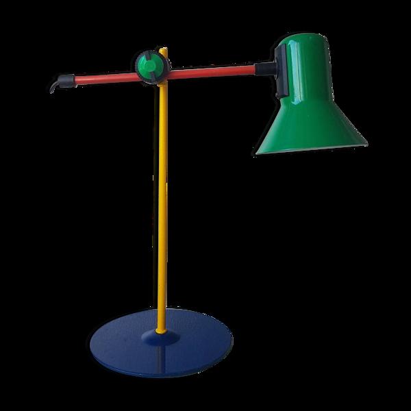 Lampe de bureau en métal des années 80 style Memphis