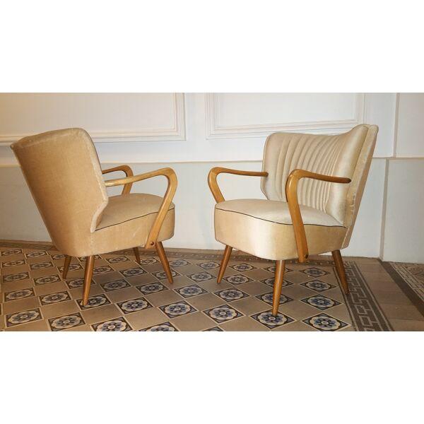 fauteuil cocktail bridge vintage scandinave années 50 60
