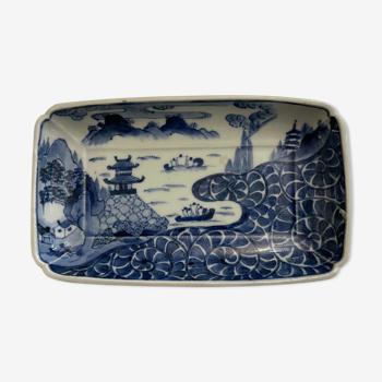Arita Japan rectangular sometsuke cup Edo XVII XVIII Japan Asia