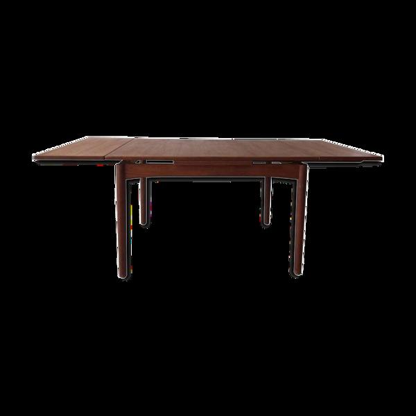 Selency Table à manger extensible en teck scandinave à rallonge 1960s