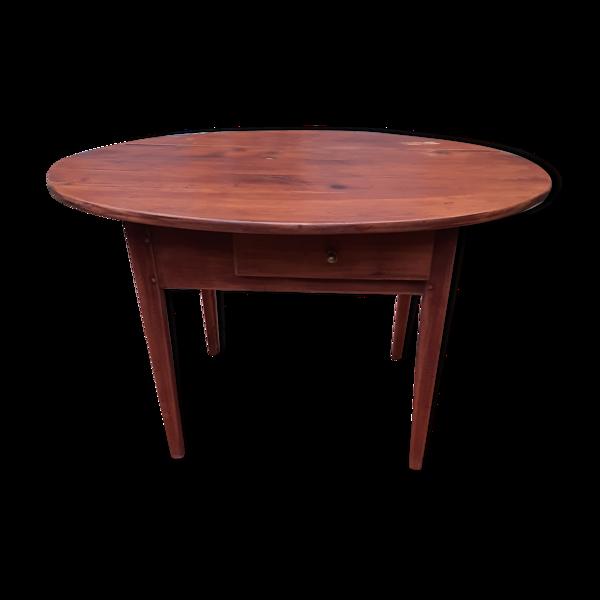 Table ovale 2 tiroirs