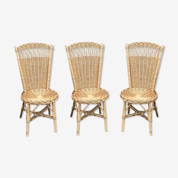 Chaises en rotin vintage