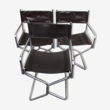 Set de 3 fauteuils des années 70 Lafuma