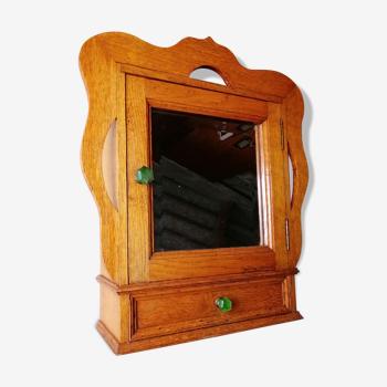 Armoire de toilette pharmacie bois massif miroir biseauté style votre maison