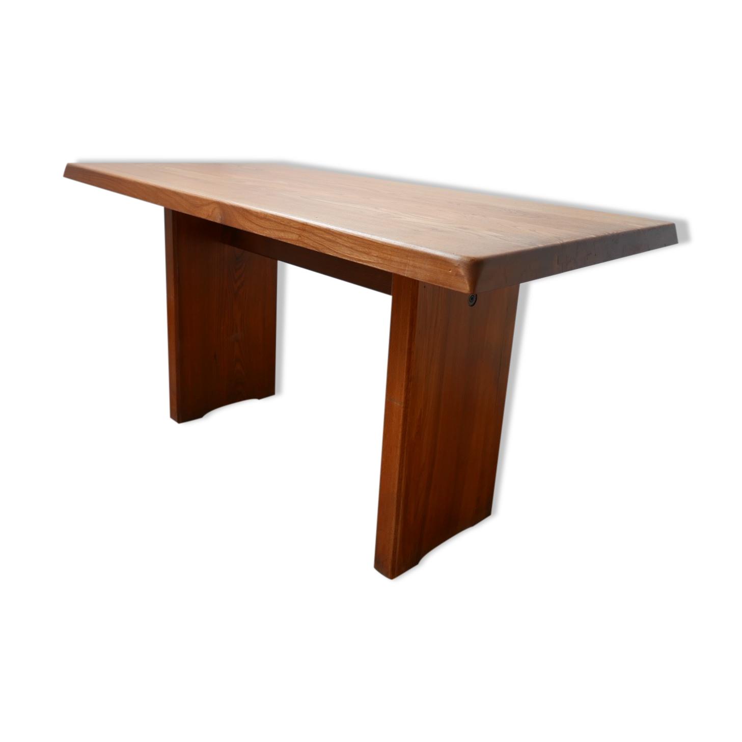 Table de salle à manger T14 de Pierre Chapo  en orme