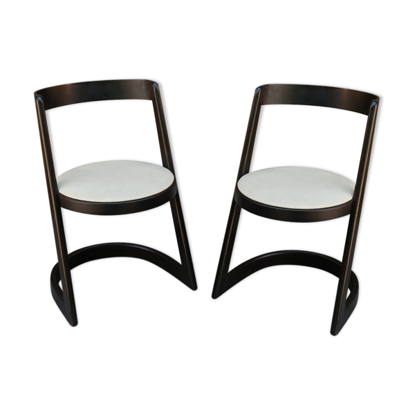 Paire de chaises halpha par baumann 1970