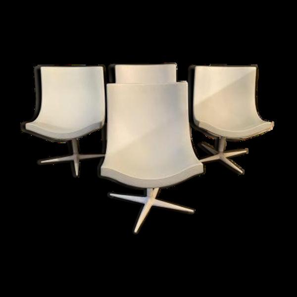 Suite de 4 chaises Cappellini Modèle YS Christophe Pillet