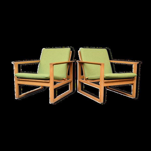 Selency Paire de fauteuils  modèle 2256 de Børge Mogensen