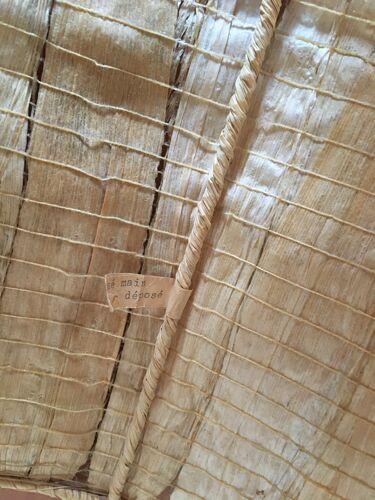 Lampe grès et abat-jour feuilles cousues